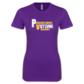 Next Level Ladies SoftStyle Junior Fitted Purple Tee-PV Marching Storm Band