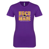 Next Level Ladies SoftStyle Junior Fitted Purple Tee-HBCU MADE