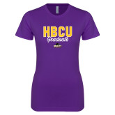 Next Level Ladies SoftStyle Junior Fitted Purple Tee-HBCU Graduate