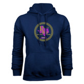 Navy Fleece Hoodie-PVAM Marching Band Seal