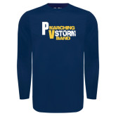 Under Armour Navy Long Sleeve Tech Tee-PV Marching Storm Band