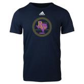 Adidas Navy Logo T Shirt-PVAM Marching Band Seal