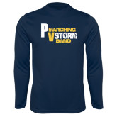 Syntrel Performance Navy Longsleeve Shirt-PV Marching Storm Band