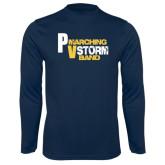 Performance Navy Longsleeve Shirt-PV Marching Storm Band