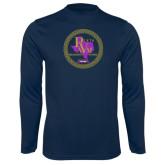 Performance Navy Longsleeve Shirt-PVAM Marching Band Seal
