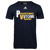 Adidas Climalite Navy Ultimate Performance Tee-PV Marching Storm Band