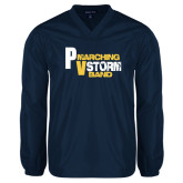 V Neck Navy Raglan Windshirt-PV Marching Storm Band