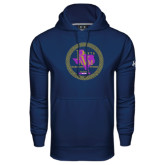 Under Armour Navy Performance Sweats Team Hoodie-PVAM Marching Band Seal