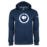 Under Armour Navy Performance Sweats Team Hoodie-Marching Storm Cloud Circle - Fan