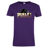 Ladies Purple T Shirt-Official Logo