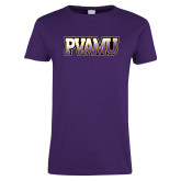 Ladies Purple T Shirt-PVAMU