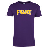 Ladies Purple T Shirt-Arched PVAMU