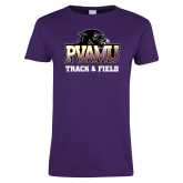 Ladies Purple T Shirt-Track & Field