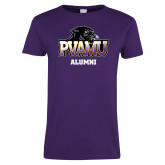 Ladies Purple T Shirt-Alumni