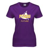 Ladies Purple T Shirt-Future Twirling Thunder