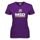 Ladies Purple T Shirt-MSD w/ PVAM Logo