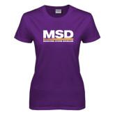 Ladies Purple T Shirt-MSD