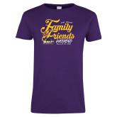 Ladies Purple T Shirt-2018 Family Weekend