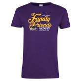 Ladies Purple T Shirt-2018 Family Weekend