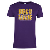 Ladies Purple T Shirt-HBCU MADE