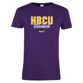 Ladies Purple T Shirt-HBCU Graduate