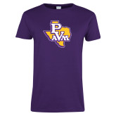 Ladies Purple T Shirt-PVAM Texas