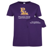 Ladies Purple T Shirt-PVAM Stacked