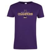 Ladies Purple T Shirt-2018 Mens Golf Champions