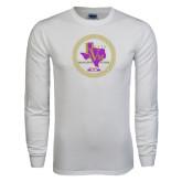 White Long Sleeve T Shirt-PVAM Marching Band Seal