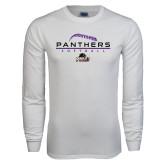 White Long Sleeve T Shirt-Softball Design
