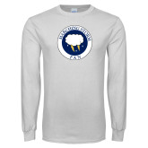 White Long Sleeve T Shirt-Marching Storm Cloud Circle - Fan