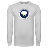 White Long Sleeve T Shirt-Marching Storm Cloud Circle - Fan