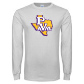 White Long Sleeve T Shirt-PVAM Texas