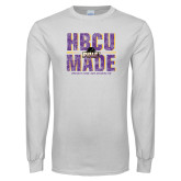 White Long Sleeve T Shirt-HBCU MADE