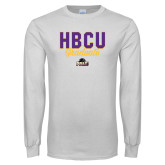 White Long Sleeve T Shirt-HBCU Graduate