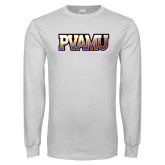 White Long Sleeve T Shirt-PVAMU