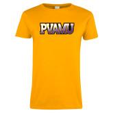 Ladies Gold T Shirt-PVAMU