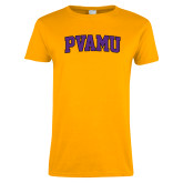 Ladies Gold T Shirt-Arched PVAMU