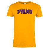 Ladies Gold T Shirt-Arched PVAMU
