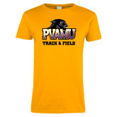 Ladies Gold T Shirt-Track & Field