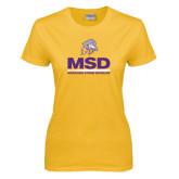 Ladies Gold T Shirt-MSD w/ PVAM Logo