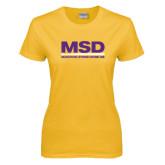 Ladies Gold T Shirt-MSD