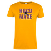 Ladies Gold T Shirt-HBCU MADE