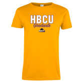 Ladies Gold T Shirt-HBCU Graduate