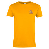 Ladies Gold T Shirt-PVAM Stacked