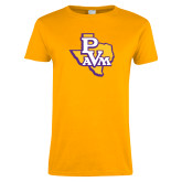 Ladies Gold T Shirt-PVAM Texas