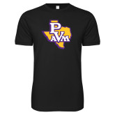 Next Level SoftStyle Black T Shirt-PVAM Texas
