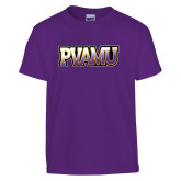 Youth Purple T Shirt-PVAMU
