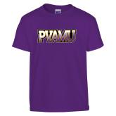 Youth Purple T Shirt-PVAMU