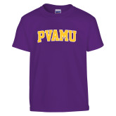 Youth Purple T Shirt-Arched PVAMU